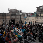 An audience comprising of Deepalaya School students, their parents, residents of Sanjay Colony, and media persons at the #SaveDeepalayaSchool Campaign event held in Deepalaya School, Sanjay Colony, New Delhi on Sunday, 01 February 2015.